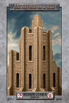 Battlefield in a box - Gothic Battlefields - Medium Corner - White (x1) - 30mm