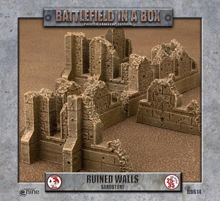Battlefield in a box - Gothic Battlefields - Walls - White (x5) - 30mm