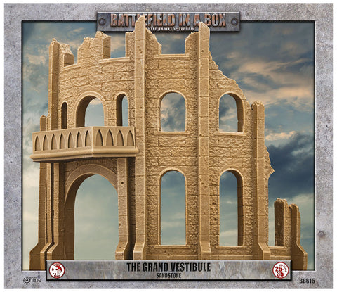 Battlefield in a box - Gothic Battlefields - Grand Vestibule - White (x1) - 30mm