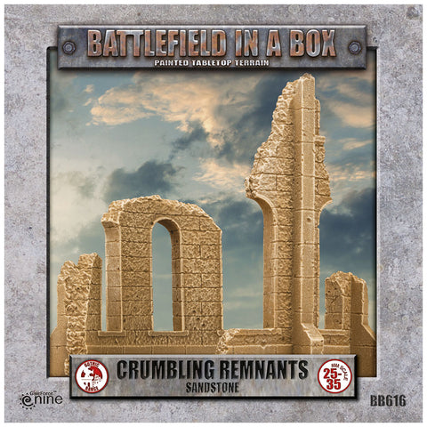 Battlefield in a box - Gothic Battlefields - Crumbling Remnants - White (x2) - 30mm