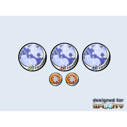 Infinity Tokens - Camo Blue 40mm (P00105)
