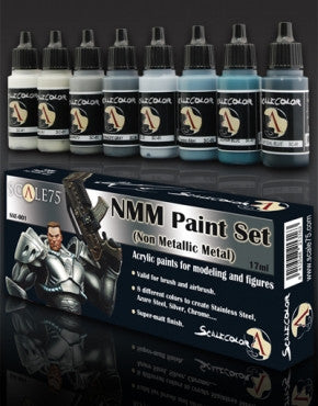 Non-Metallic Metal Paint Set - Steel