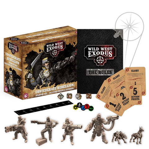 Wild West Exodus Confederate Rebellion Starter Set