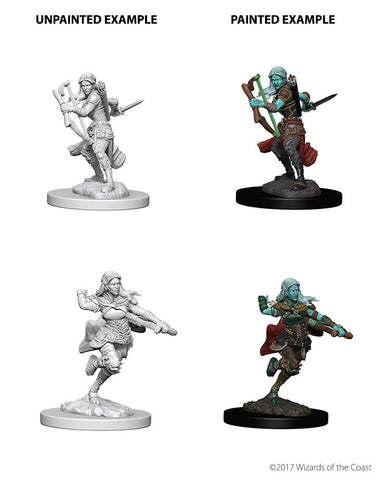 D&D Nolzurs Marvelous Unpainted Miniatures Air Genasi Female Rogue