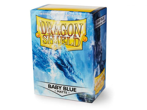 Sleeves - Dragon Shield - Box 100 - Pastel Matte Baby Blue