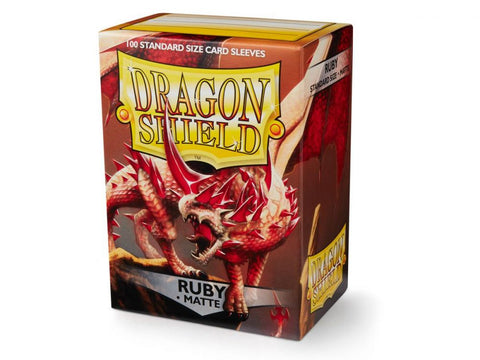 Sleeves - Dragon Shield - Box 100 - Matte Ruby