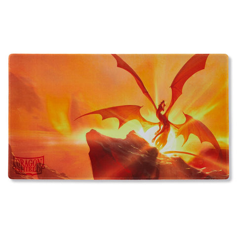 Dragon Shield Playmat Case and Coin Yellow Elicaphaz