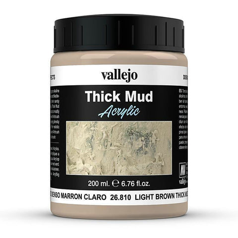 26.810 Vallejo Diorama Effects Light Brown Thick Mud 200ml