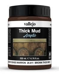 26.811 Vallejo Diorama Effects Brown Thick Mud 200ml