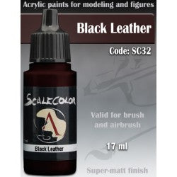 Scale Color Black Leather