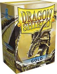 Sleeves - Dragon Shield - Box 100 Gold