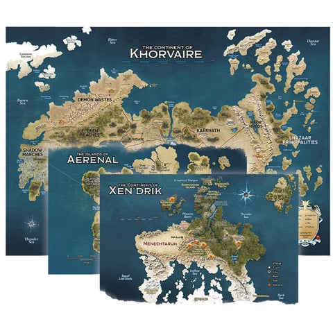 D&D Eberron Map Set Nations of Khorvaire