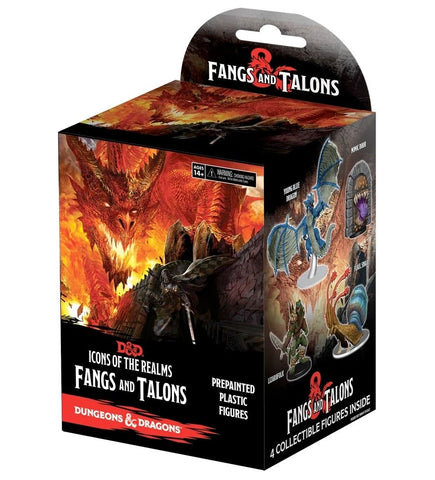 D&D Icons of the Realms Fangs and Talons 8 Ct Booster Brick