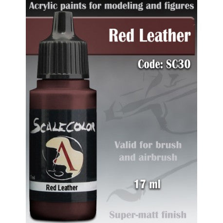 Scale Color Red Leather