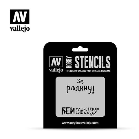 Vallejo Stencils - AFV Markings - Soviet Slogans WWII Num. 2