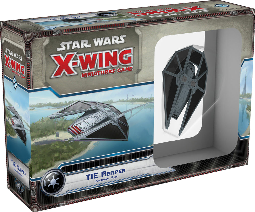 Star Wars X-Wing Tie Reaper (2nd Ed & 1st Ed cards)
