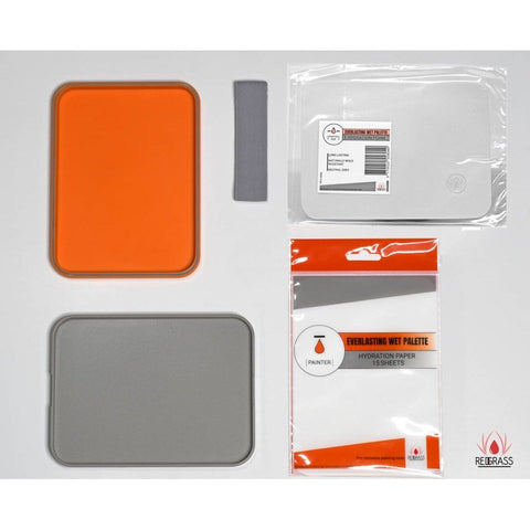 Redgrass Everlasting Wet Palette Starter Painter Orange