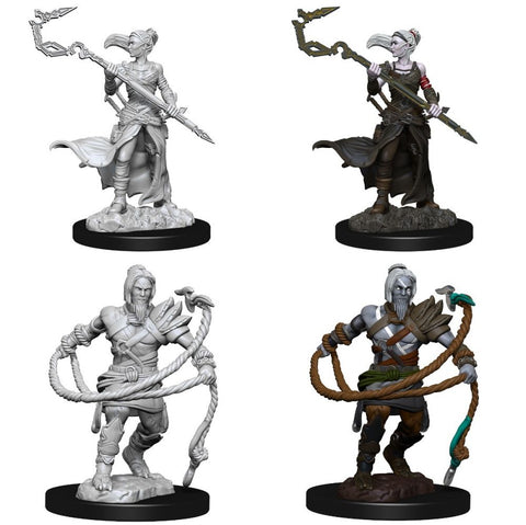 Magic the Gathering Unpainted Miniatures Stoneforge Mystic & Kor Hookmaster (Fighter, Rogue, Wizard)