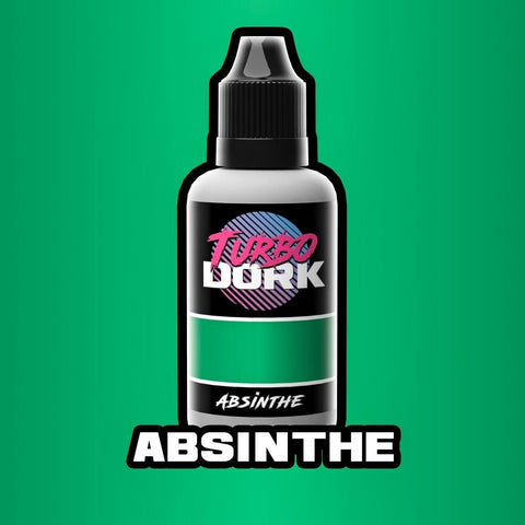 Turbo Dork Absinthe Metallic Acrylic Paint 20ml Bottle