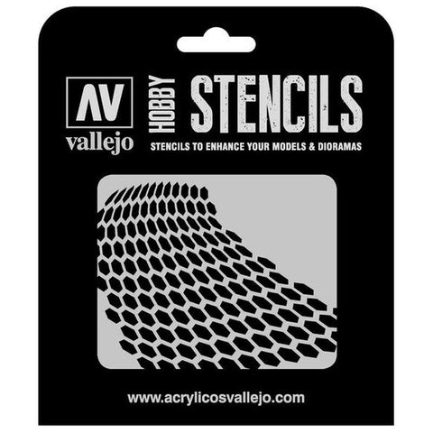 Vallejo Stencils - Sci-Fi & Fantasy - Distorted Honeycomb