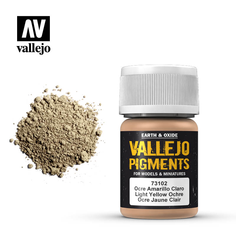 73.102 Vallejo Pigments Light Yellow Ocre