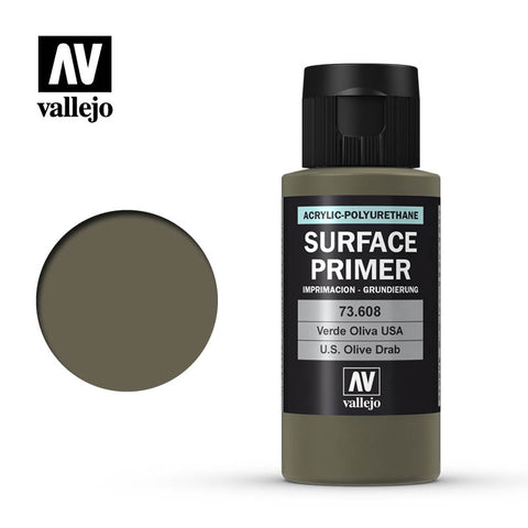 73.608 Vallejo Auxiliary Surface Primer USA Olive Drab (60ml)