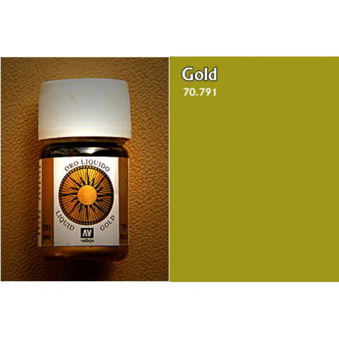 70.791 Vallejo Liquid Metallics: Gold