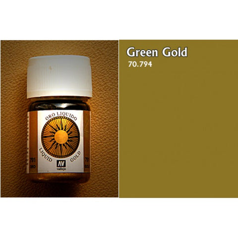 70.795 Vallejo Liquid Metallics: Green Gold