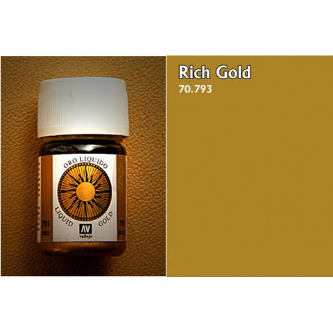 70.793 Vallejo Liquid Metallics: Rich Gold