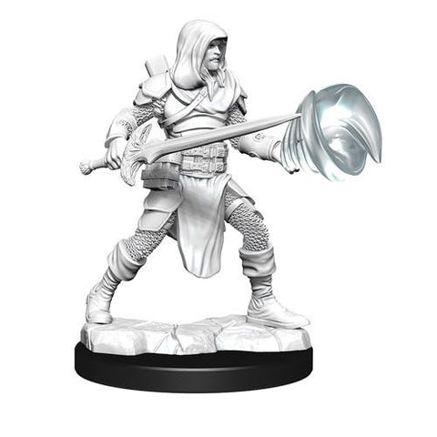D&D Nolzurs Marvelous Unpainted Miniatures Male Multiclass Fighter + Wizard