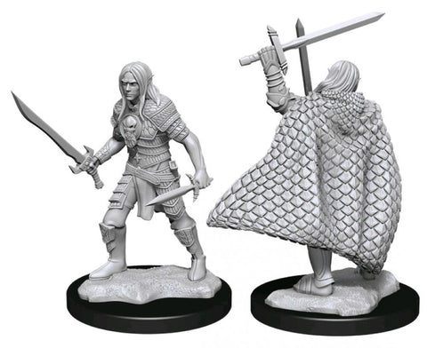 Pathfinder Deep Cuts Unpainted Miniatures Elf Fighter Male
