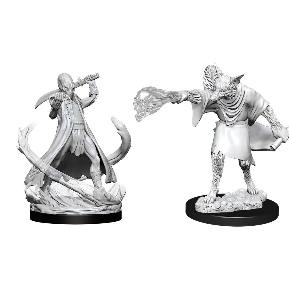 D&D Nolzurs Marvelous Unpainted Miniatures Arcanaloth and Ultroloth