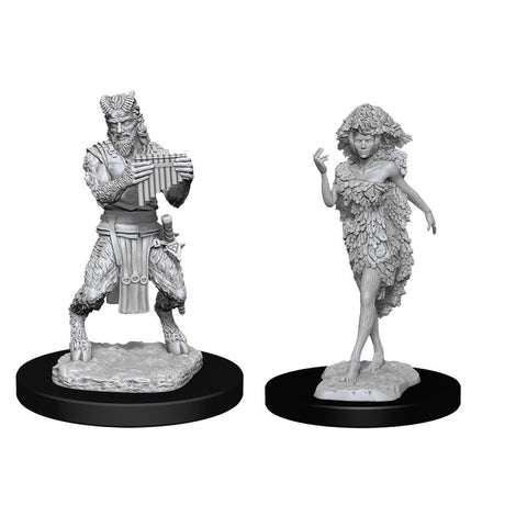 D&D Nolzurs Marvelous Unpainted Miniatures Satyr and Dryad