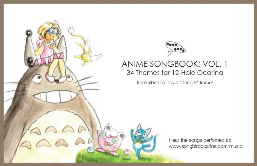 Anime Songbook: Vol. 1 for 12 Hole Ocarina PDF