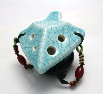 Spearhead Ocarina Soprano C in Jade Crackle