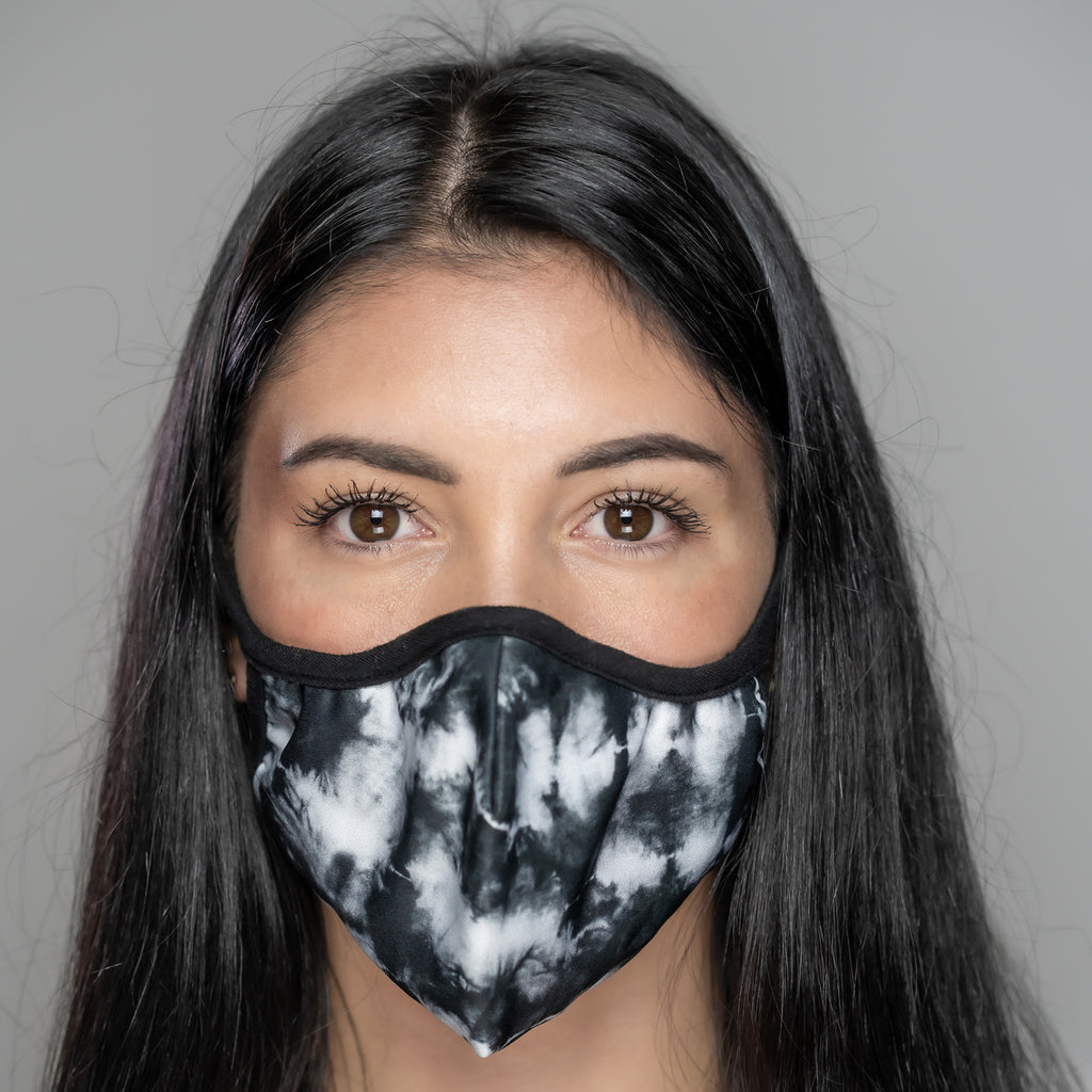 Easy Breather Washable Filtered Face Mask - Black Tie Dye