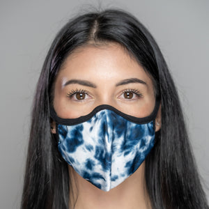 Easy Breather Washable Filtered Face Mask - Blue Tie Dye