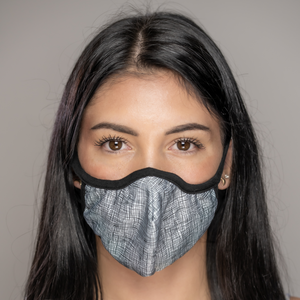 Easy Breather Washable Filtered Face Mask - Grey Weave