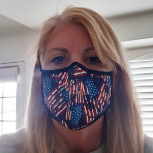 Washable Filtered Cloth Face Mask - Adult Stars & Stripes