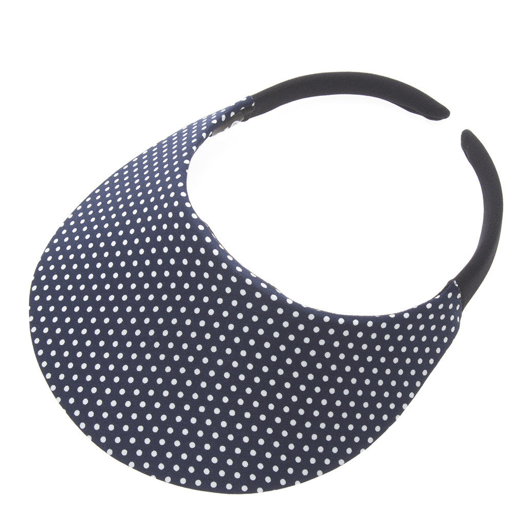 Dot Navy Visor - No Headache
