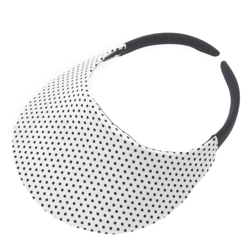 Dot White Visor