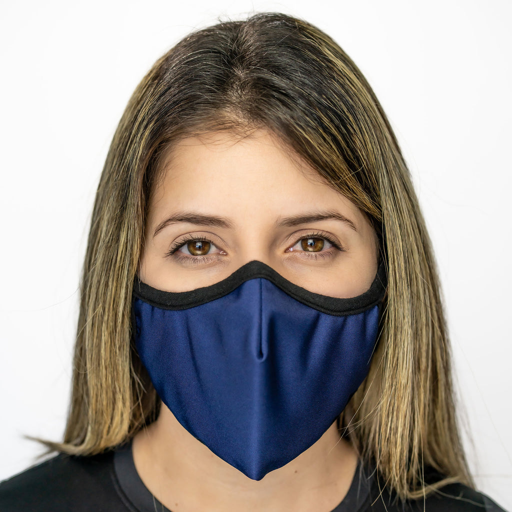 Easy Breather Washable Filtered Face Mask - Navy Blue