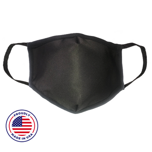 No Headache PPE, Face Mask - Black - Front View