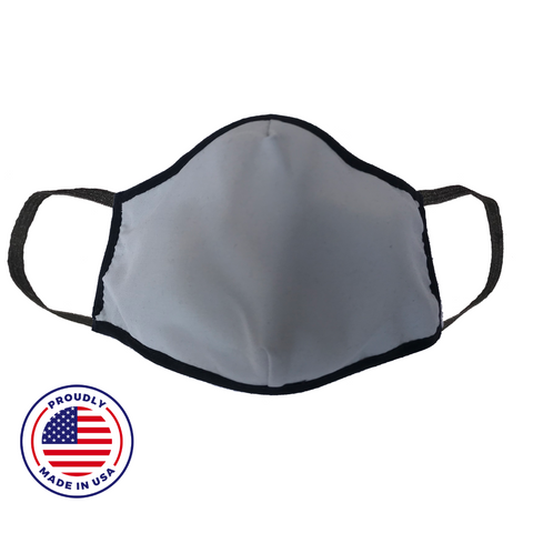 No Headache PPE, Face Mask - Grey - Front View