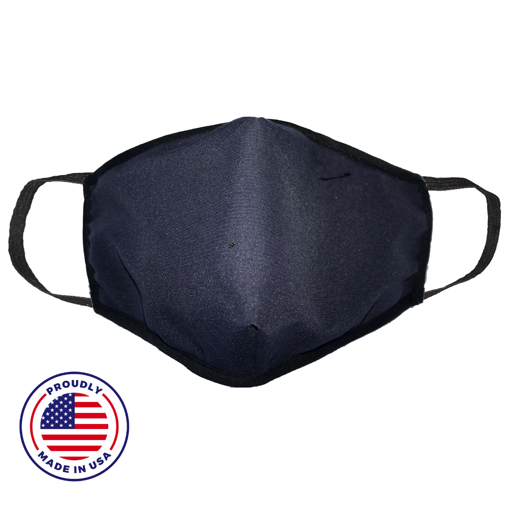 Washable Filtered Cloth Face Mask - Adult Navy Blue