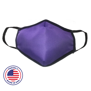 Washable Filtered Cloth Face Mask - Adult Purple