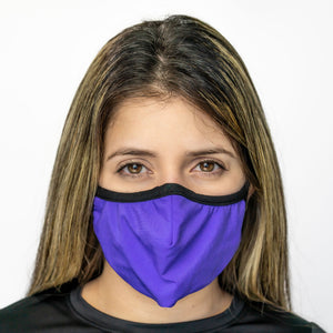 Easy Breather Washable Filtered Face Mask - Purple