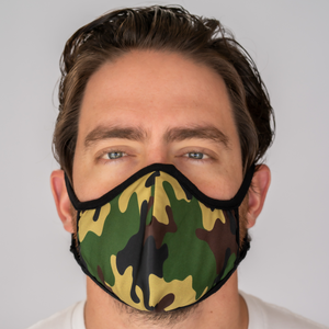 Easy Breather Washable Filtered Face Mask - Green Camo