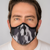 Easy Breather Washable Filtered Face Mask - Grey Camo
