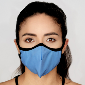 Easy Breather Washable Filtered Face Mask - Light Blue